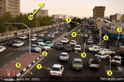 The Iranian Tehran Traffic Farhad Radmehrian