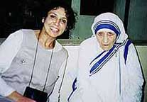 Photo of Mother Teresa and Shirin Bazleh