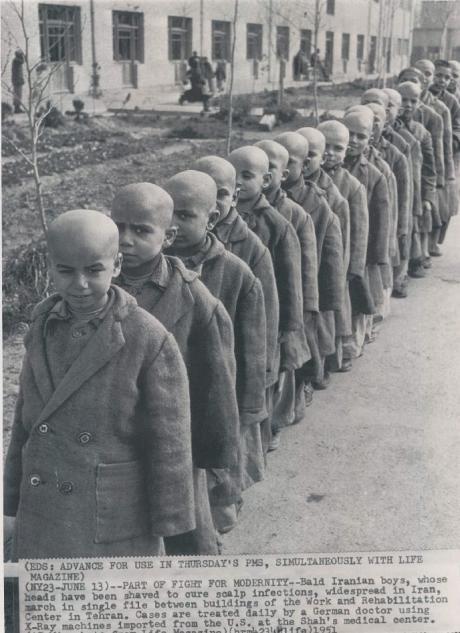 SCHOOL SUCKS: Iranian School Boys Get Heads Shaved (1951)