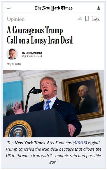 NY Times anti-Iranian media