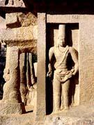 King Mamalla wearing an  Iranian head-dress