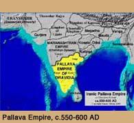 Map of the Iranic Pallava Empire by  Samar Abbas