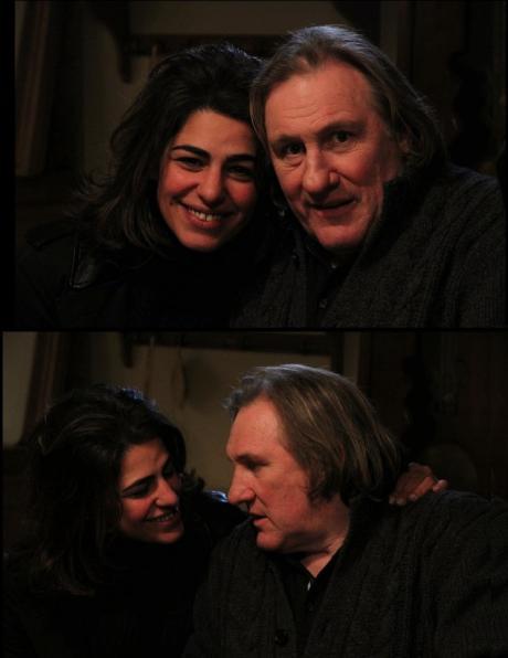 sarah doraghi and french movie star g rard depardieu. Black Bedroom Furniture Sets. Home Design Ideas