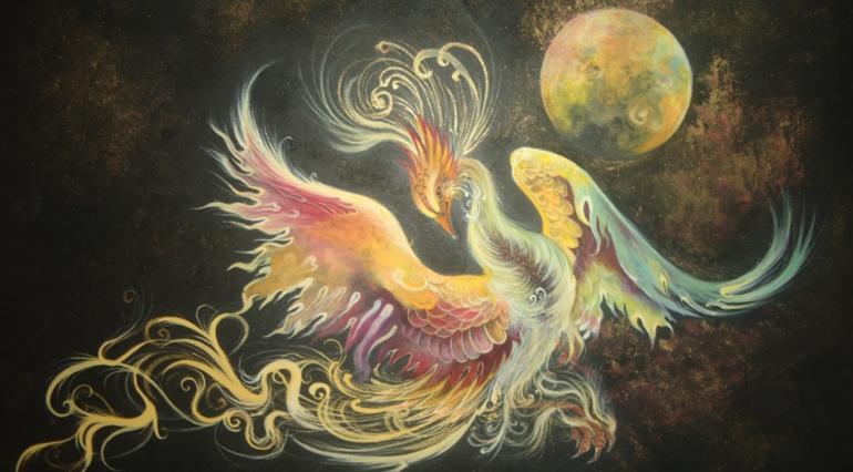 zoroastrians bird Simorgh Shahnameh zoroastrian