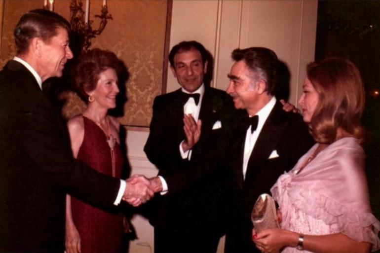 Abbas Ghaffari and Ronald Reagan