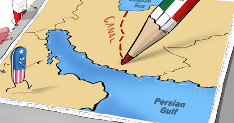 Iran canal connecting north and south