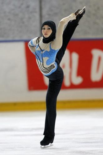 Emirati figure skater Zara Lahri