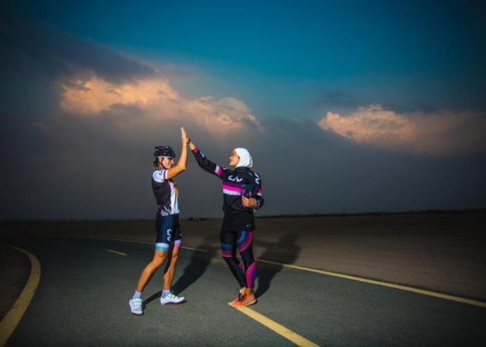 Manal Rostam and Jos Rossouw