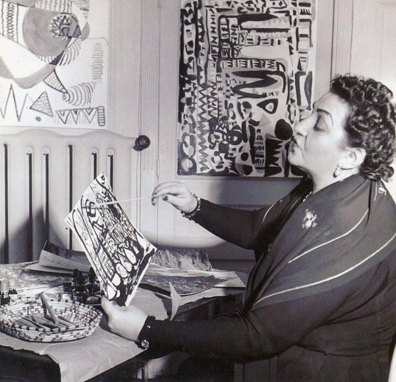 Fahrelnissa Zeid, London, 1952
