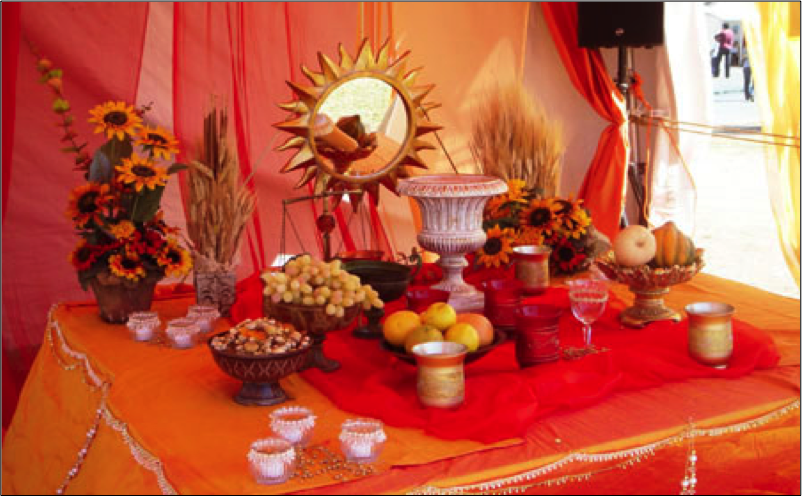 The Mehrgān spread table (Dusharm, Dream of Persia)