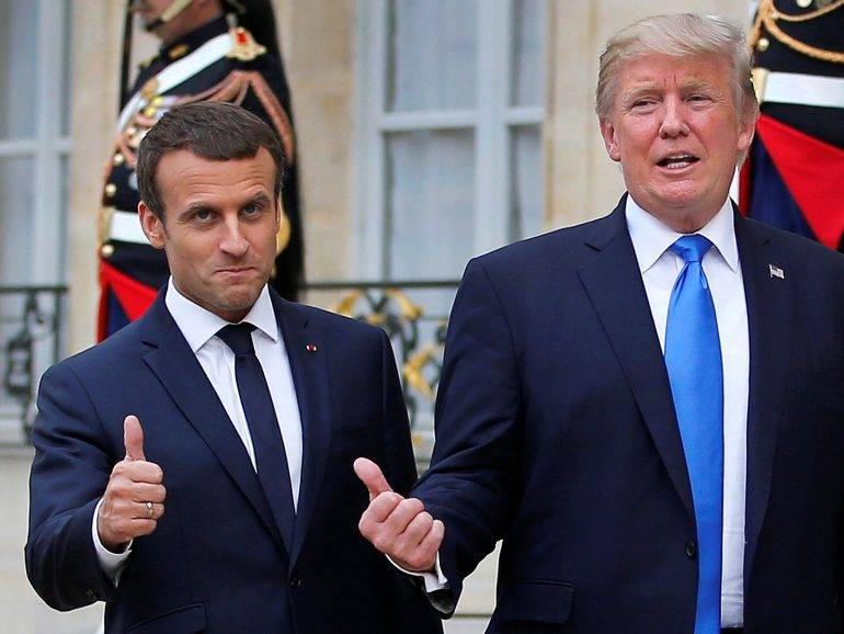 President Macron and Trump