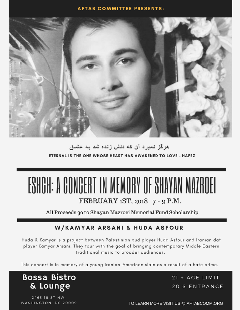Eshgh: A Concert In Memory of Shayan Mazroei