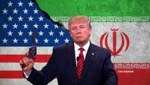 Trump Iran Barrel of a gun